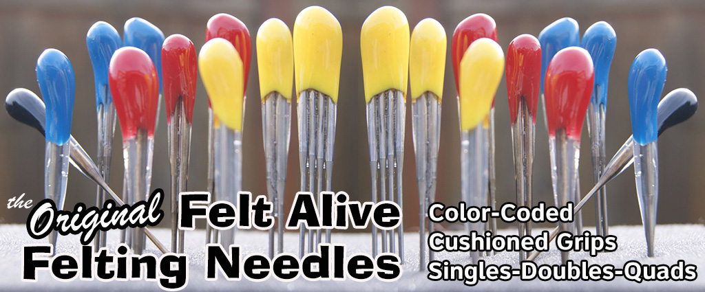 Felt Alive Color-Coded Felting Needles