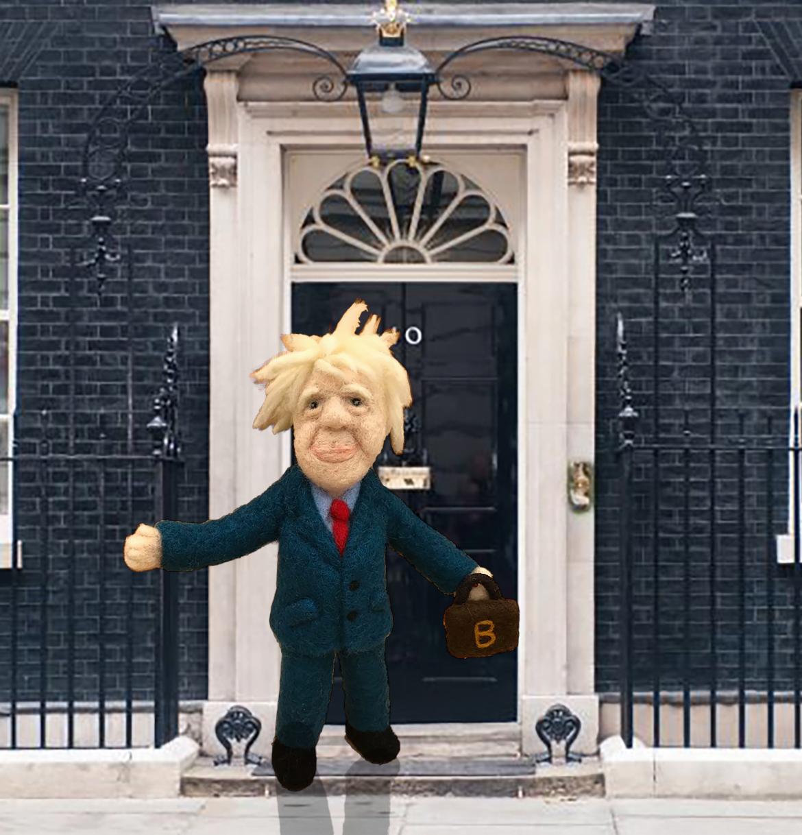 Boris Johnson Doll Needle Felted